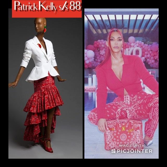 Before Kim K: Patrick Kelly's Red Cotton Bandanas Image
